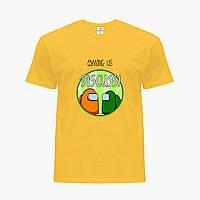 Детская футболка для мальчиков Амонг Ас (Among Us) (25186-2588) Желтый, фото 1