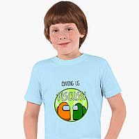 Детская футболка для мальчиков Амонг Ас (Among Us) (25186-2588) Голубой, фото 1