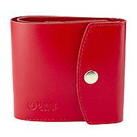 Кошелек женский кожаный маленький на кнопке Handycover HC0062 красный, фото 1