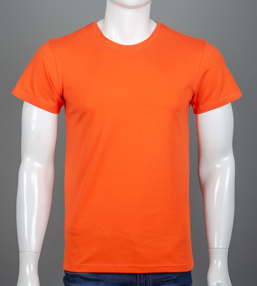 Футболка мужская однотонная  (0Г00), Оранжевый