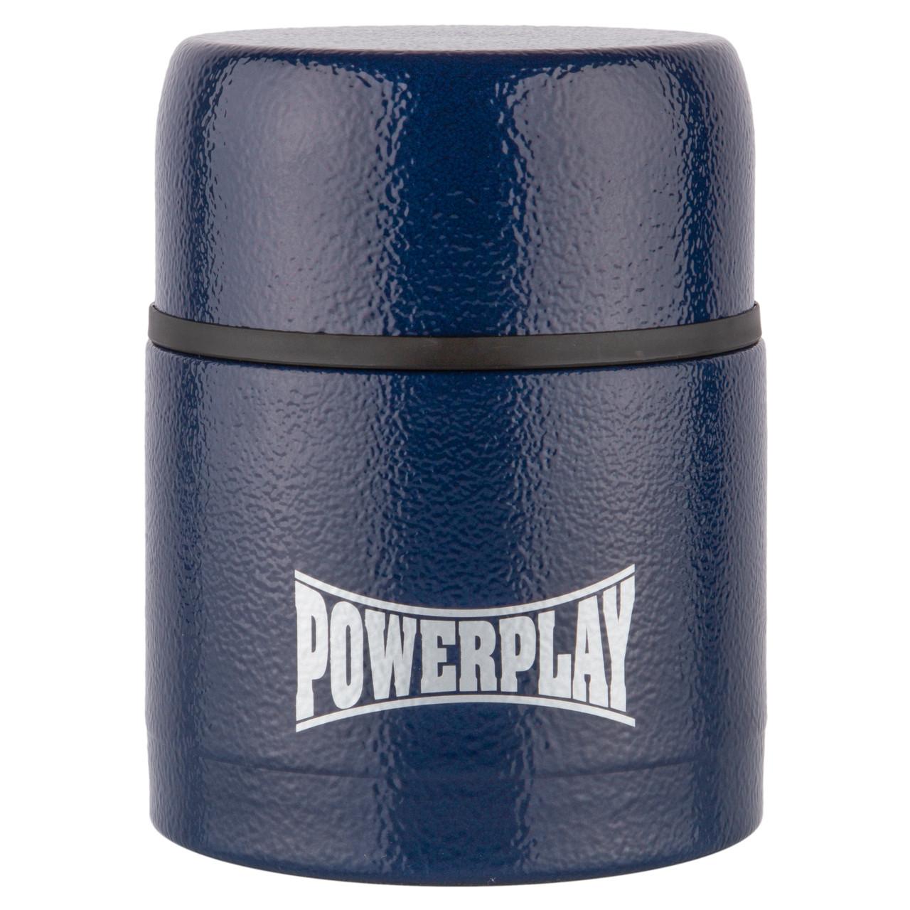 Маленький термос пищевой синий 500 мл PowerPlay 9003