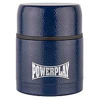 Маленький термос пищевой синий 500 мл PowerPlay 9003, фото 1
