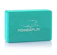 Блок для йоги PowerPlay 4006 Yoga Brick М'ятний