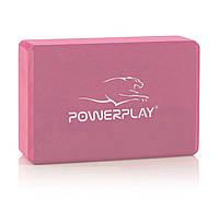 Блок для йоги PowerPlay 4006 Yoga Brick Рожевий