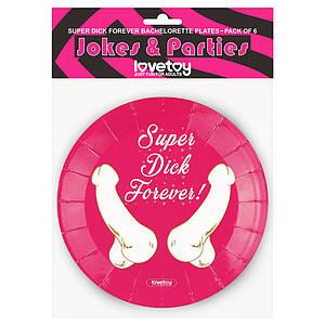 Бумажные тарелки Super Dick Forever Bachelorette Paper Plates (6 шт.)