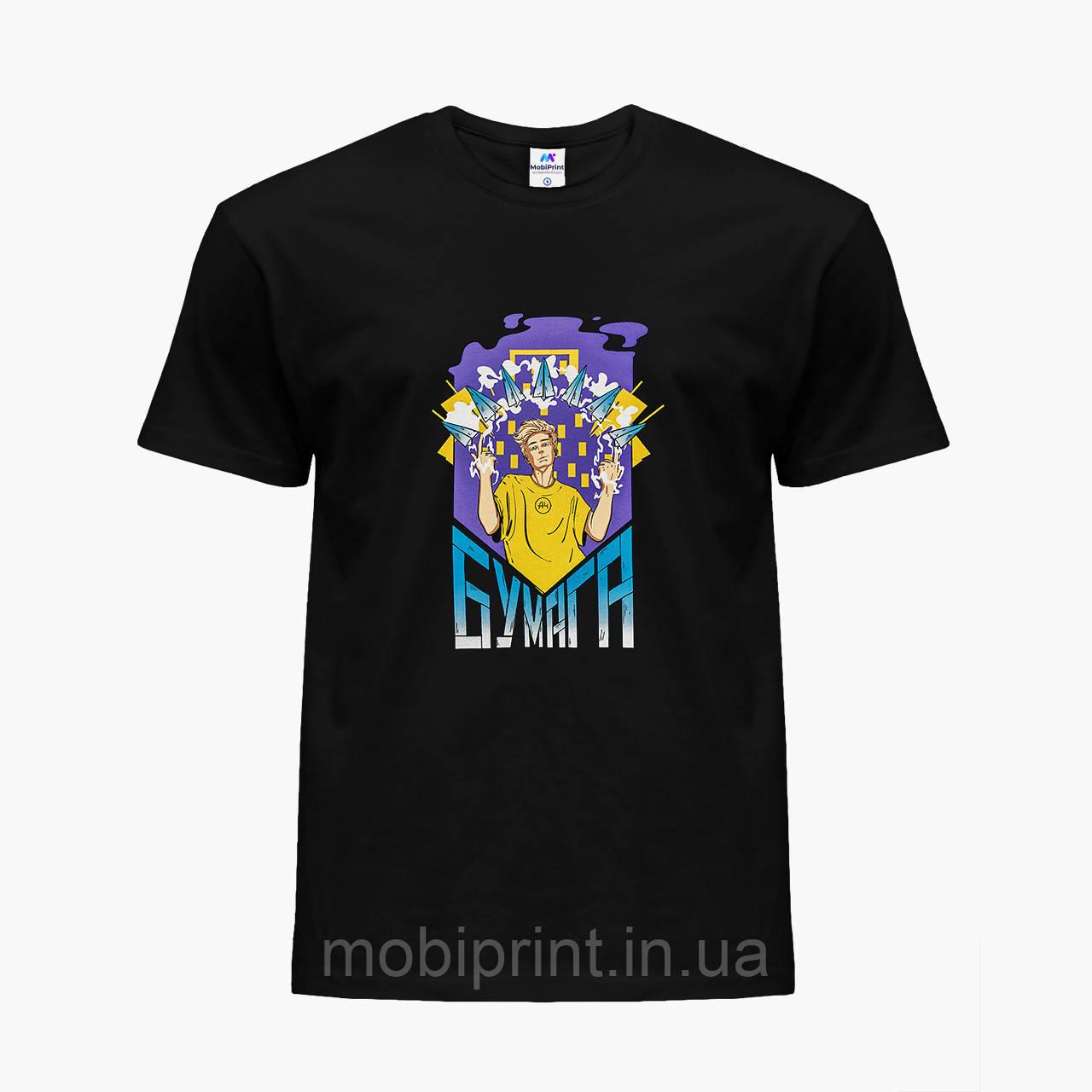 Детская футболка для мальчиков блогер Влад Бумага А4 (blogger Vlad A4) (25186-2617) Черный