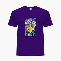 Дитяча футболка для хлопчиків блогер Влад Папір А4 (blogger Vlad A4) (25186-2617) Фіолетовий, фото 1
