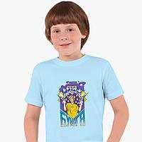 Дитяча футболка для хлопчиків блогер Влад Папір А4 (blogger Vlad A4) (25186-2617) Блакитний, фото 1
