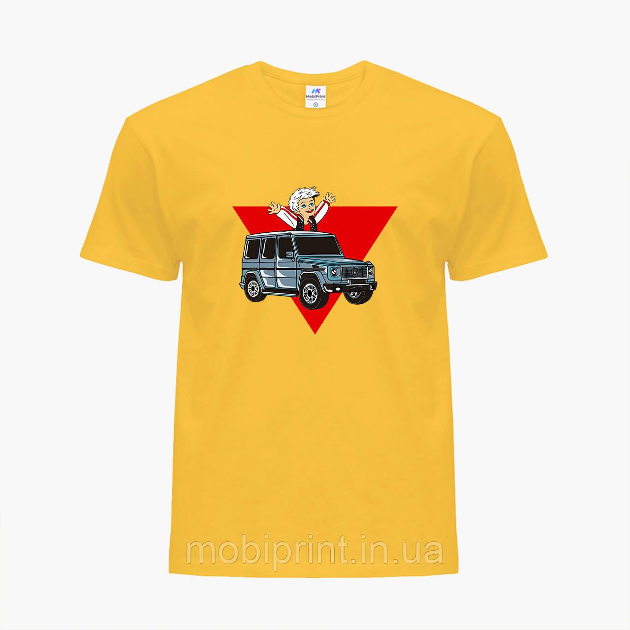 Дитяча футболка для хлопчиків блогер Влад Папір А4 (blogger Vlad A4) (25186-2618) Жовтий