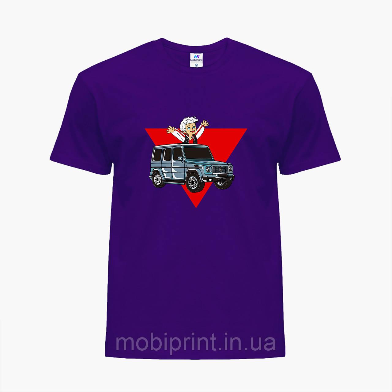 Дитяча футболка для хлопчиків блогер Влад Папір А4 (blogger Vlad A4) (25186-2618) Фіолетовий