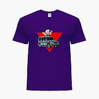 Дитяча футболка для хлопчиків блогер Влад Папір А4 (blogger Vlad A4) (25186-2618) Фіолетовий, фото 1
