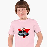 Дитяча футболка для хлопчиків блогер Влад Папір А4 (blogger Vlad A4) (25186-2618) Рожевий, фото 1