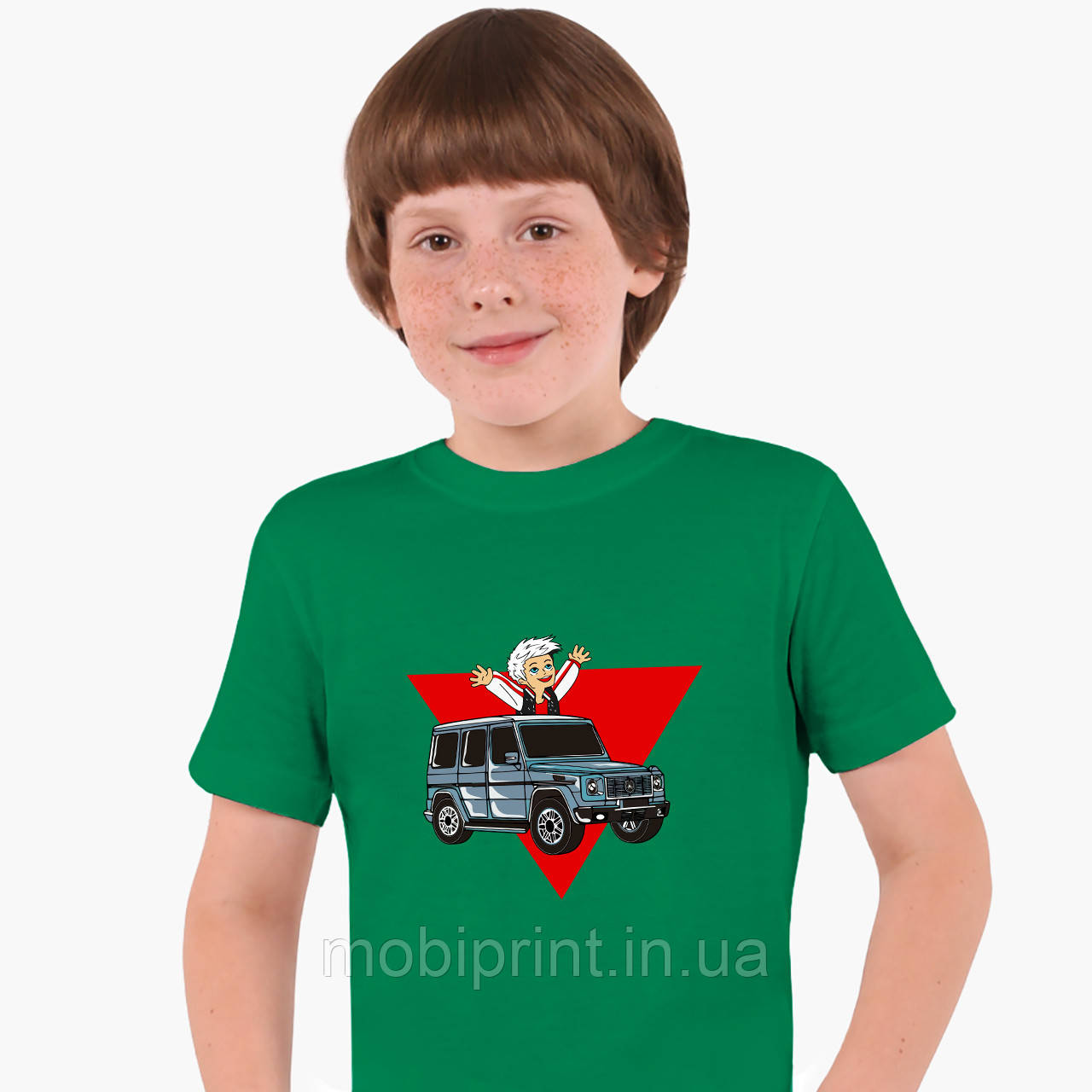 Дитяча футболка для хлопчиків блогер Влад Папір А4 (blogger Vlad A4) (25186-2618) Зелений