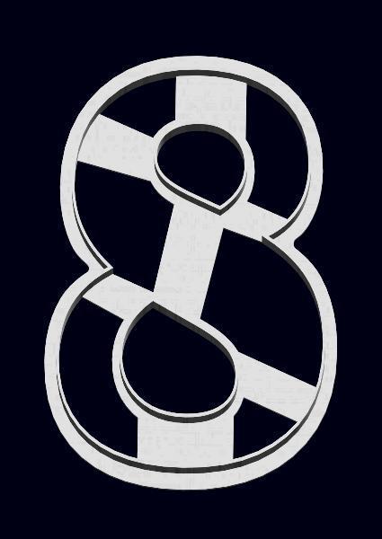 Вырубка цифра 8   Цифра 8 марта   3Д форма цифра 8