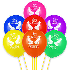 Воздушные шарики Super Dick Forever Bachelorette Balloons (7 шт.)