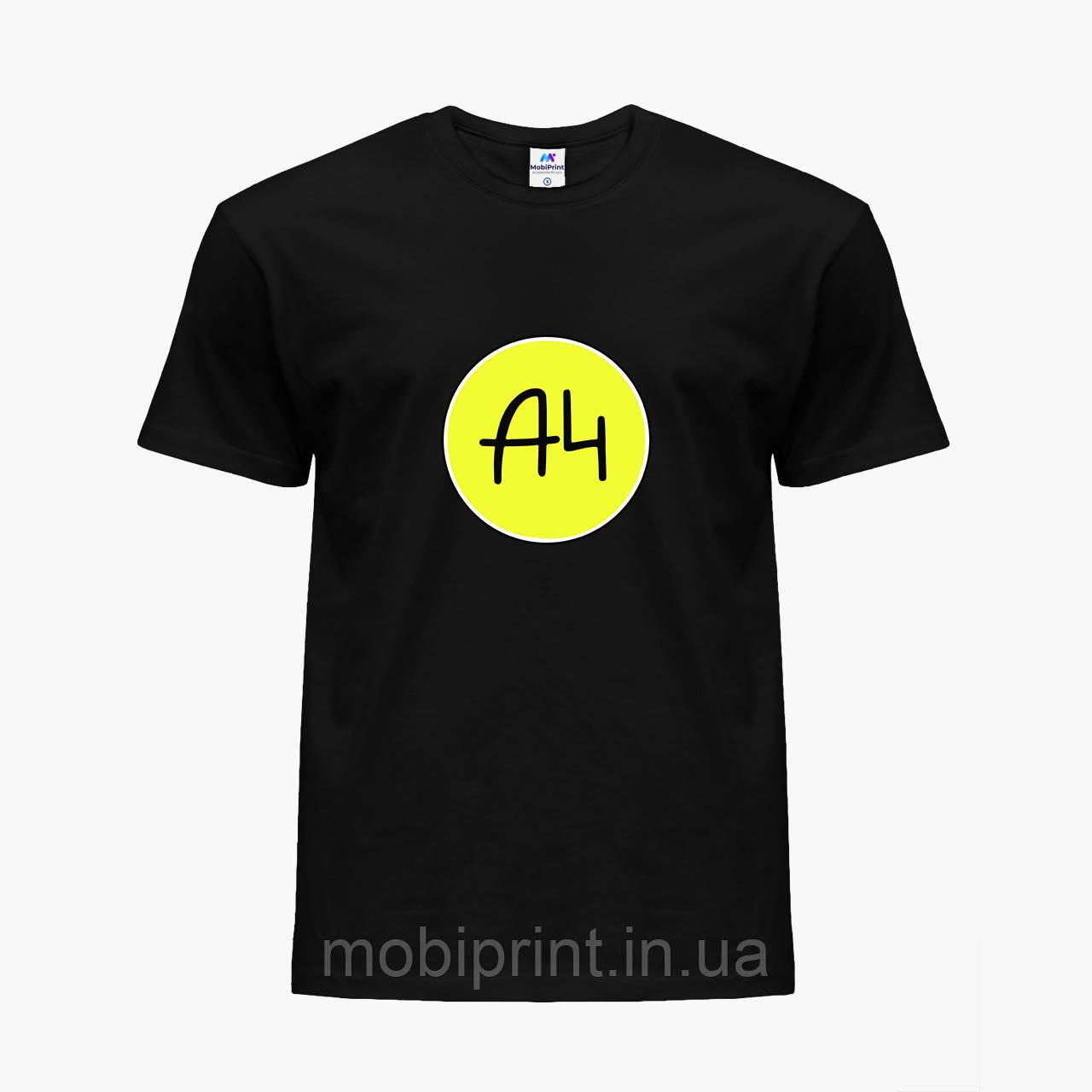 Детская футболка для мальчиков блогер Влад Бумага А4 (blogger Vlad A4) (25186-2620) Черный