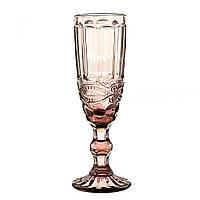 """Бокалы для шампанского в винтажном стиле """"Гранат"""" 20 см, комплект 6 шт."""
