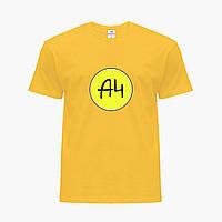 Детская футболка для мальчиков блогер Влад Бумага А4 (blogger Vlad A4) (25186-2620) Желтый , фото 1