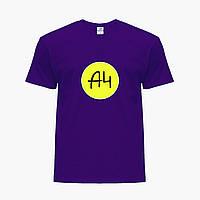 Детская футболка для мальчиков блогер Влад Бумага А4 (blogger Vlad A4) (25186-2620) Фиолетовый , фото 1