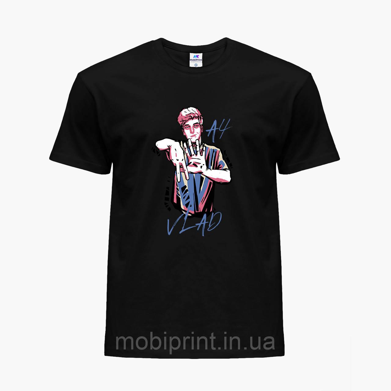 Детская футболка для мальчиков блогер Влад Бумага А4 (blogger Vlad A4) (25186-2621) Черный