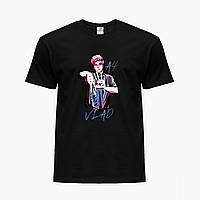 Дитяча футболка для хлопчиків блогер Влад Папір А4 (blogger Vlad A4) (25186-2621) Чорний, фото 1