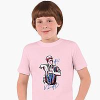Детская футболка для мальчиков блогер Влад Бумага А4 (blogger Vlad A4) (25186-2621) Розовый, фото 1