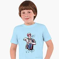 Дитяча футболка для хлопчиків блогер Влад Папір А4 (blogger Vlad A4) (25186-2621) Блакитний, фото 1
