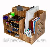 Деревянный настольный органайзер 39*29*28 см. офисный, канцелярский | подставка для документов (TI)