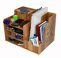 Деревянный настольный органайзер 39*29*28 см. офисный, канцелярский | подставка для документов (SH), фото 1