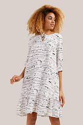 Летнее платье миди Finn Flare S19-32021-201 до колена белое