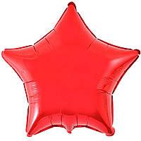 """18"""" (45 см) Звезда металлик красный Flexmetal Испания шар фольгированный"""