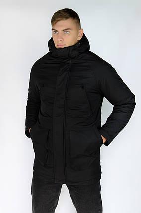 "Зимняя Парка ""Арктика"" черная + Перчатки в Подарок, фото 2"
