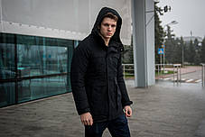 "Зимняя Парка ""Арктика"" черная + Перчатки в Подарок, фото 3"