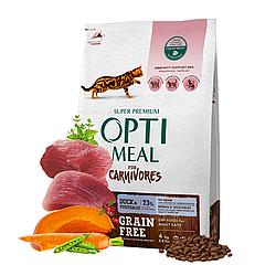 Корм Optimeal Carnivores Duck & Vegetables Оптиміл беззерновій з качкою для котів до 4 кг