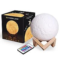 Настольный светильник Луна Magic 3D Moon Light Touch Control 15 см, фото 1