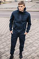 Мужская куртка Softshell синяя демисезонная Intruder. + Брендовая Ключница в подарок, фото 3
