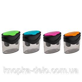 Точилка с контейнером BiColor 1163-A, ассорти цветов  Точилка с контейнером BiColor 1163-A, ассорти цветов Пл