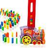 Детская игрушка паровозик с домино DOMINO Happy Truck 100 деталей / Поезд домино, фото 6