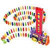 Детская игрушка паровозик с домино DOMINO Happy Truck 100 деталей / Поезд домино, фото 2