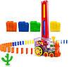 Детская игрушка паровозик с домино DOMINO Happy Truck 100 деталей / Поезд домино, фото 8
