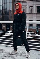 """Зимняя Куртка """"Европейка"""" красно-черная, фото 3"""