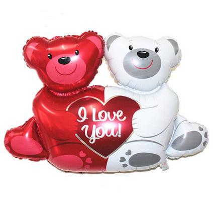 Фол куля МІНІ-ФІГУРА Два ведмедика з сердечком I Love You (Китай), фото 2