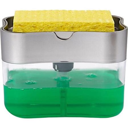 Органайзер для мочалок с мыльницей и дозатором нажимная Soap Pump