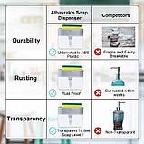 Органайзер для мочалок с мыльницей и дозатором нажимная Soap Pump, фото 6