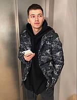 Мужская куртка демисезонная с капюшоном черная