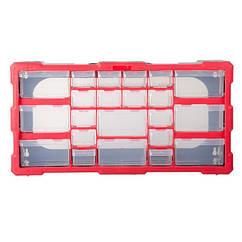 """Органайзер для інструментів 22 клітинки 19,5"""" 495 х 255 х 160 мм INTERTOOL (BX-4023)"""