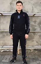Спортивный костюм для мальчика на флисе Ayugi Турция Чёрный р. 146
