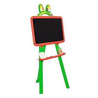 Мольберт для рисования магнитный (для мела и маркера) Doloni зеленый (013777/3)