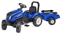Трактор детский педальный Falk 3080AB New Holland с прицепом