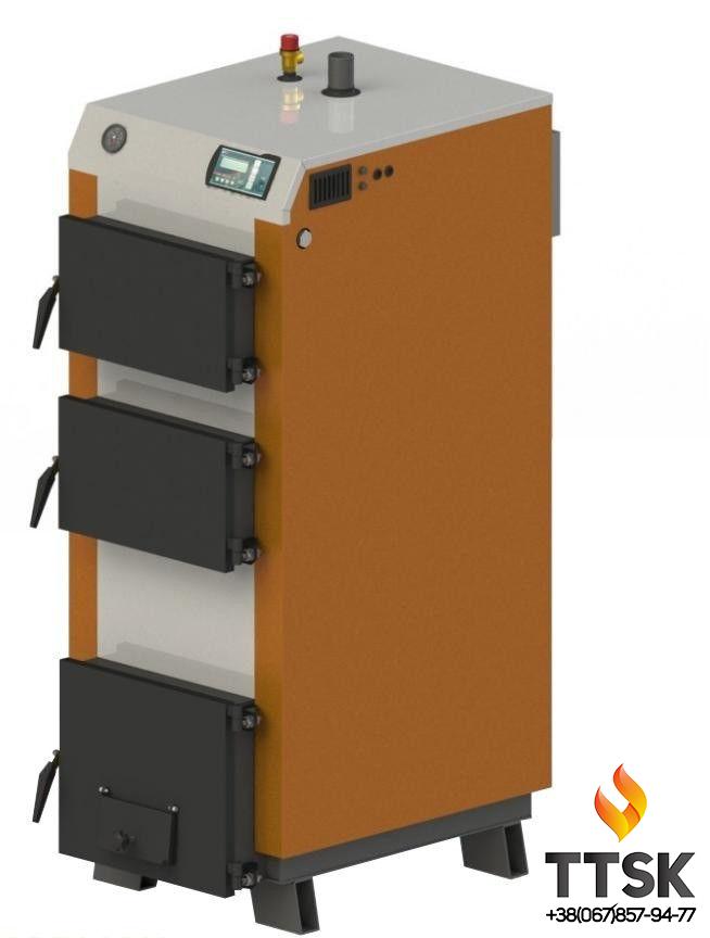 Твердотопливный котел KOTLANT КГ-40 с электронной автоматикой и вентилятором